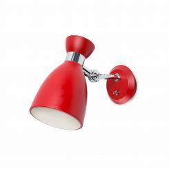 FARO RETRO Lámpara aplique roja 20002