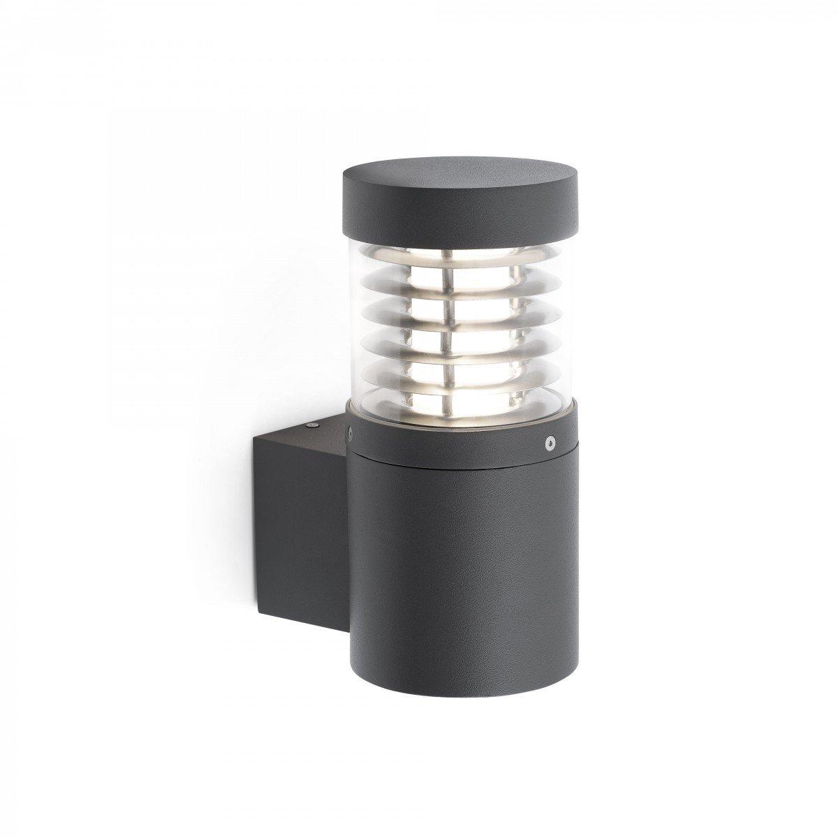 Faro giza led l mpara aplique exterior gris oscuro 70766 for Iluminacion exterior lamparas