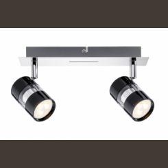 PAULMANN Spot LED 2x3,5W Nevo 230V negro cromo 60187