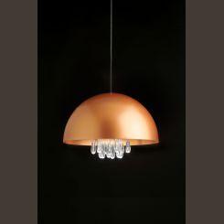 MILAN MEDUSA Lámpara colgante blanco, cobre o gris marengo y dorado