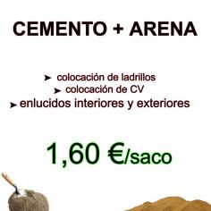 CEMENTO + ARENA