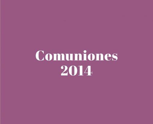 Catálogo Comuniones 2014