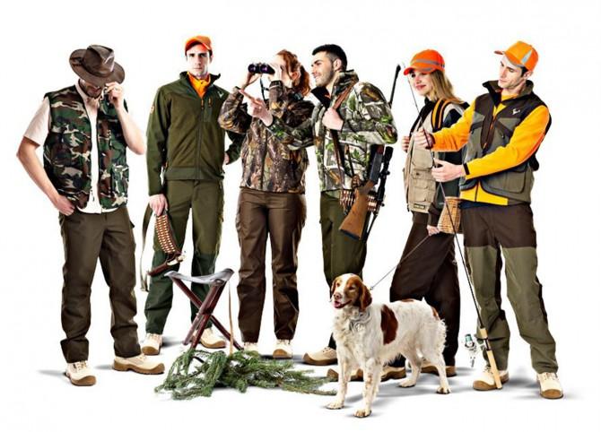 Ropa especial para caza y pesca