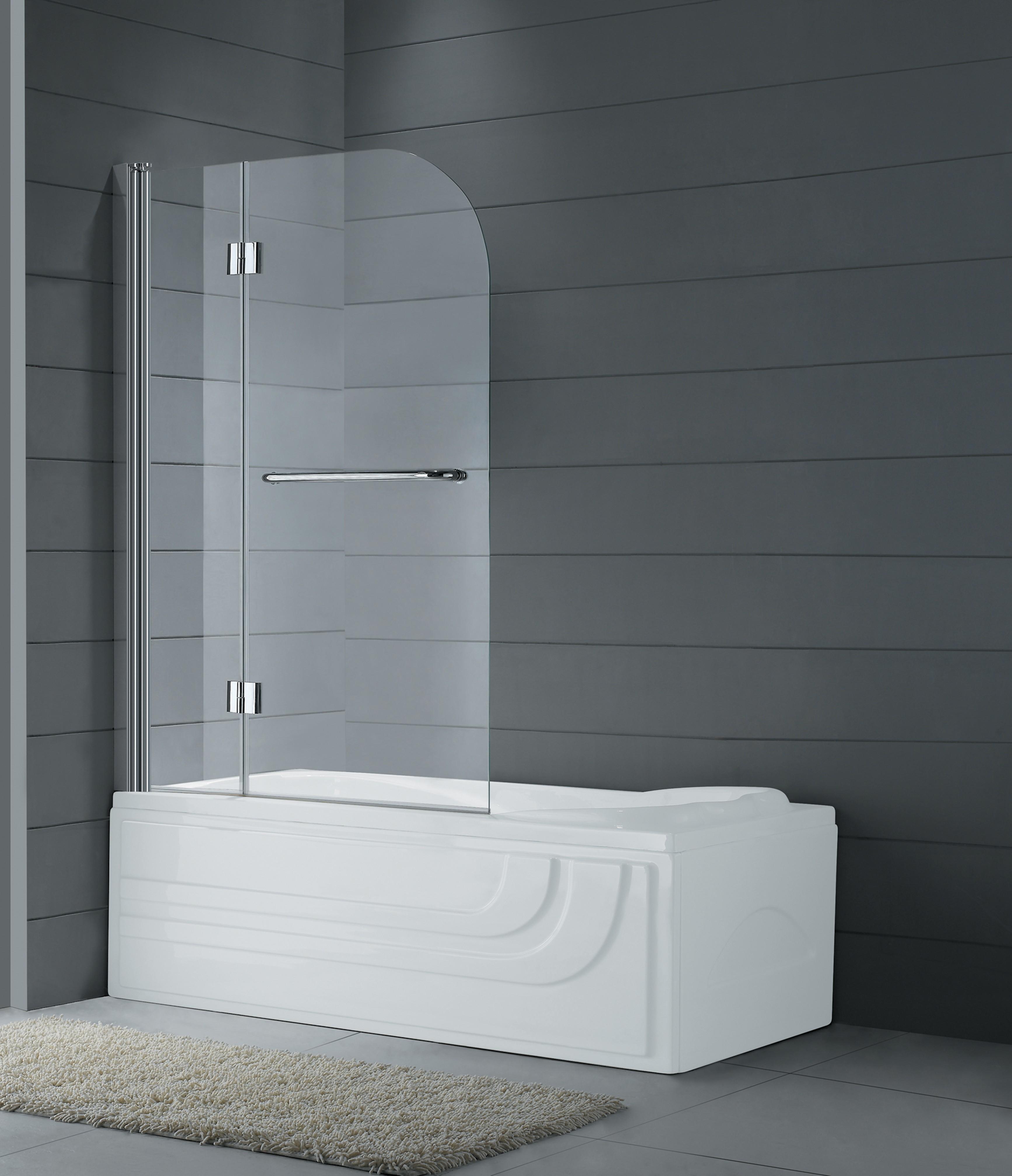 Gg2p fijo con puerta abatible mamparas de ba era - Puertas para el bano ...