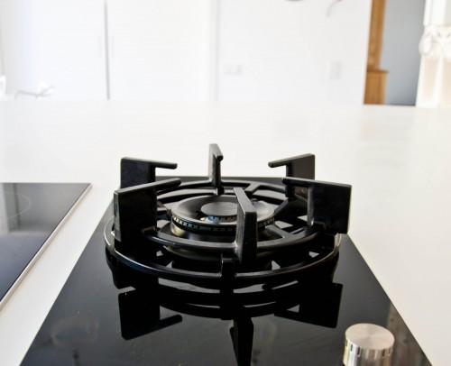 Placa modular de gas con base de cristal