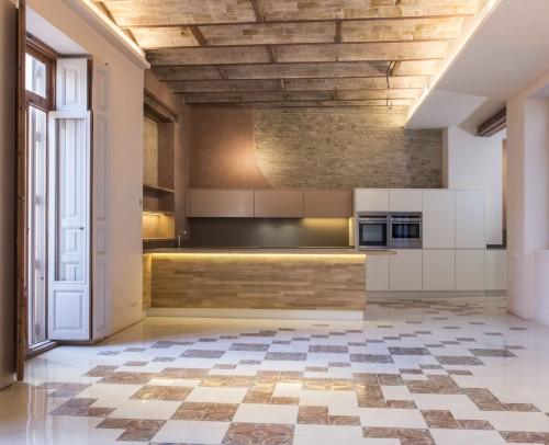 Cocina de estilo ecléctico en Valencia centro