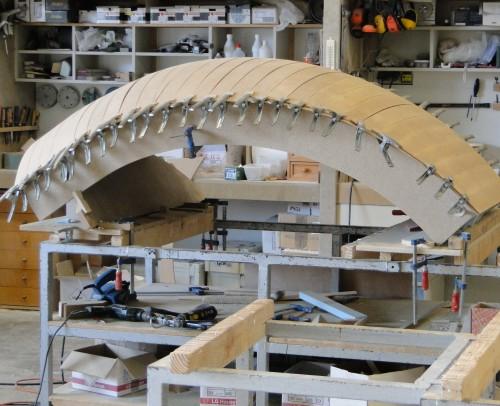 Uno de los mas de 25 moldes en 3D fabricados para esta pieza única.