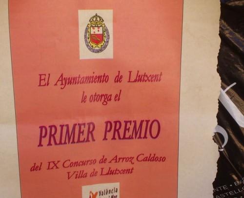 Concurso Llutxent 2012