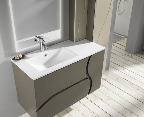 Plano inclinado mueble de baño