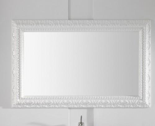 Espejo de baño en tono blanco