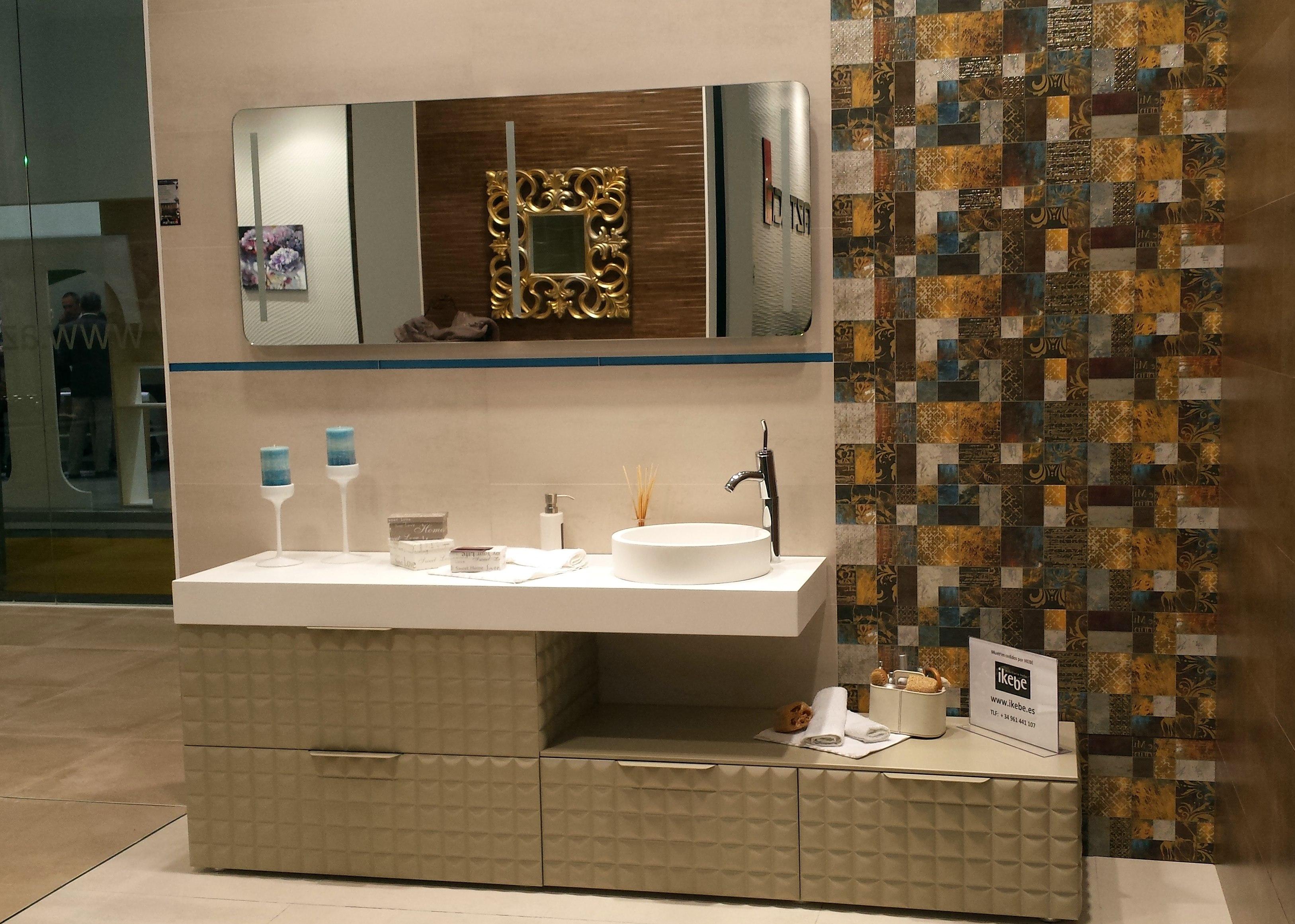Cevisama 2015 ikebe fabrica de muebles de ba o a for Fabrica muebles bano