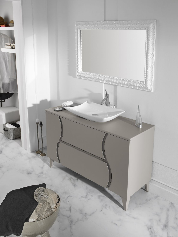 Conjunto zoe 120 gris cemento zoe mobiliario ba o for Banos 2 lavabos