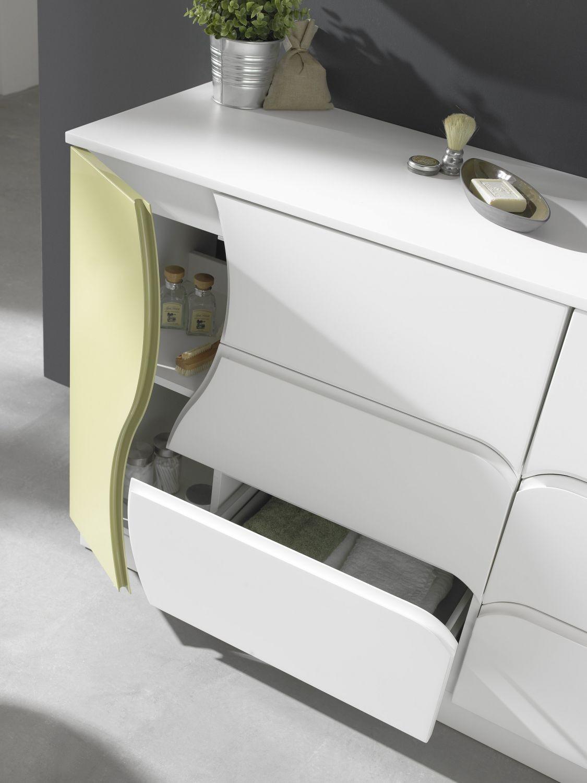 Conjunto zoe 160 blanco solid verde zoe mobiliario - Mobiliario para banos pequenos ...
