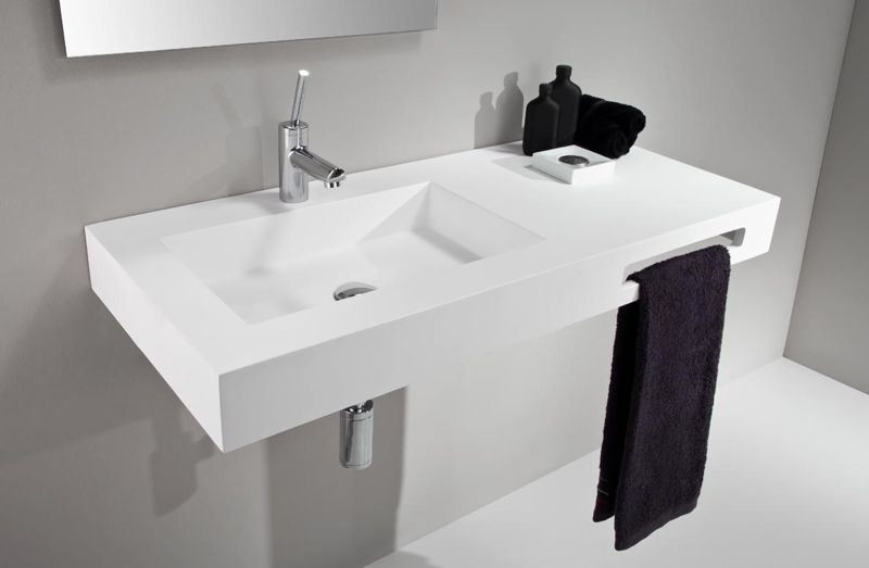 Lavabo zen lis gel coat blanco mate sun mobiliario ba o ikebe fabrica de muebles de - Mobiliario de bano de diseno ...