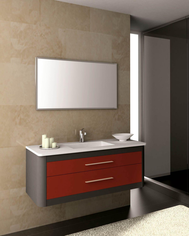 Clan mobiliario ba o ikebe fabrica de muebles de - Muebles de bano rojos ...