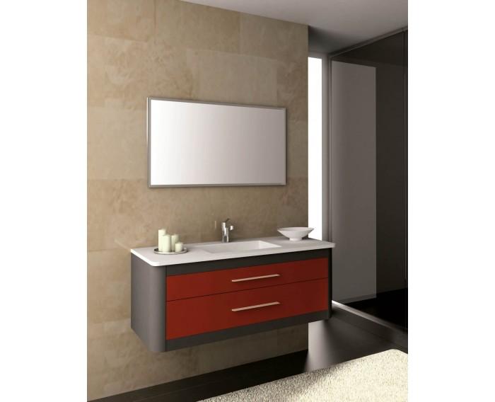 Mueble CLAN 120 Antracita Metal - Rojo