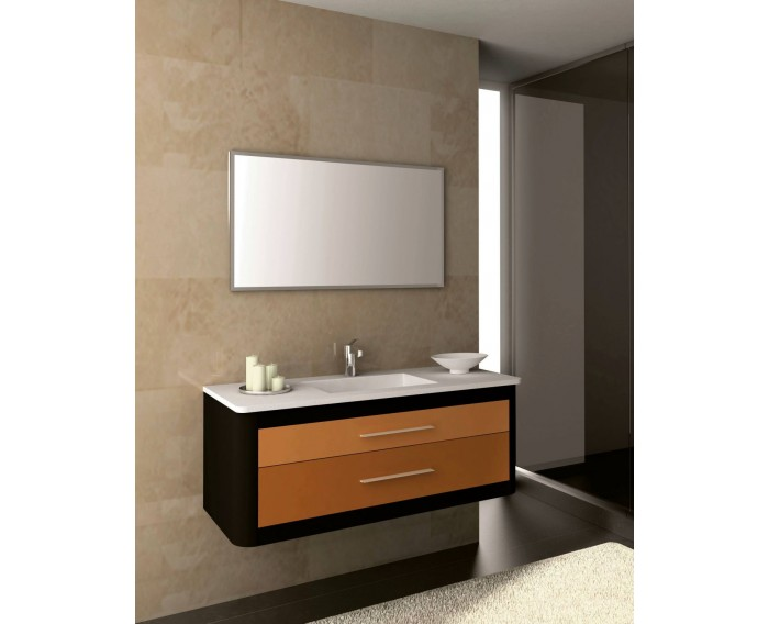 Mueble CLAN 120 Antracita Metal - Naranja y Calabaza
