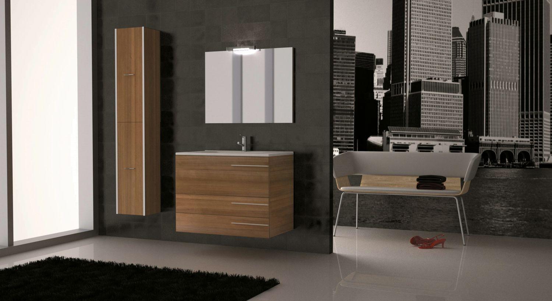 Loft 80 laminado nogal t1 loft mobiliario ba o for Loft muebles
