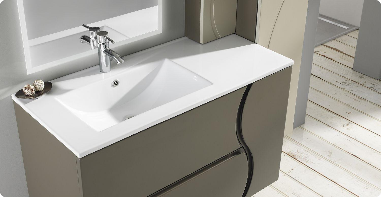 Lavabo nexo porcelana lavabos lavabos standard con for Medidas lavabo