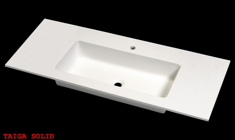 Lavabo taiga solid plan vasque sur mesure vasques for Meuble lavabo sur mesure