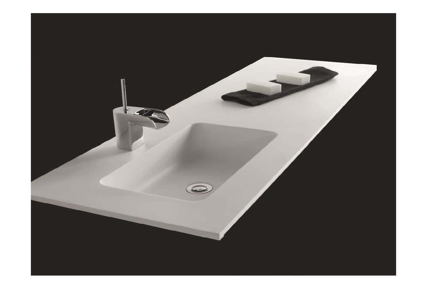 lavabo custom mini gel coat blanco mate plan vasque sur. Black Bedroom Furniture Sets. Home Design Ideas