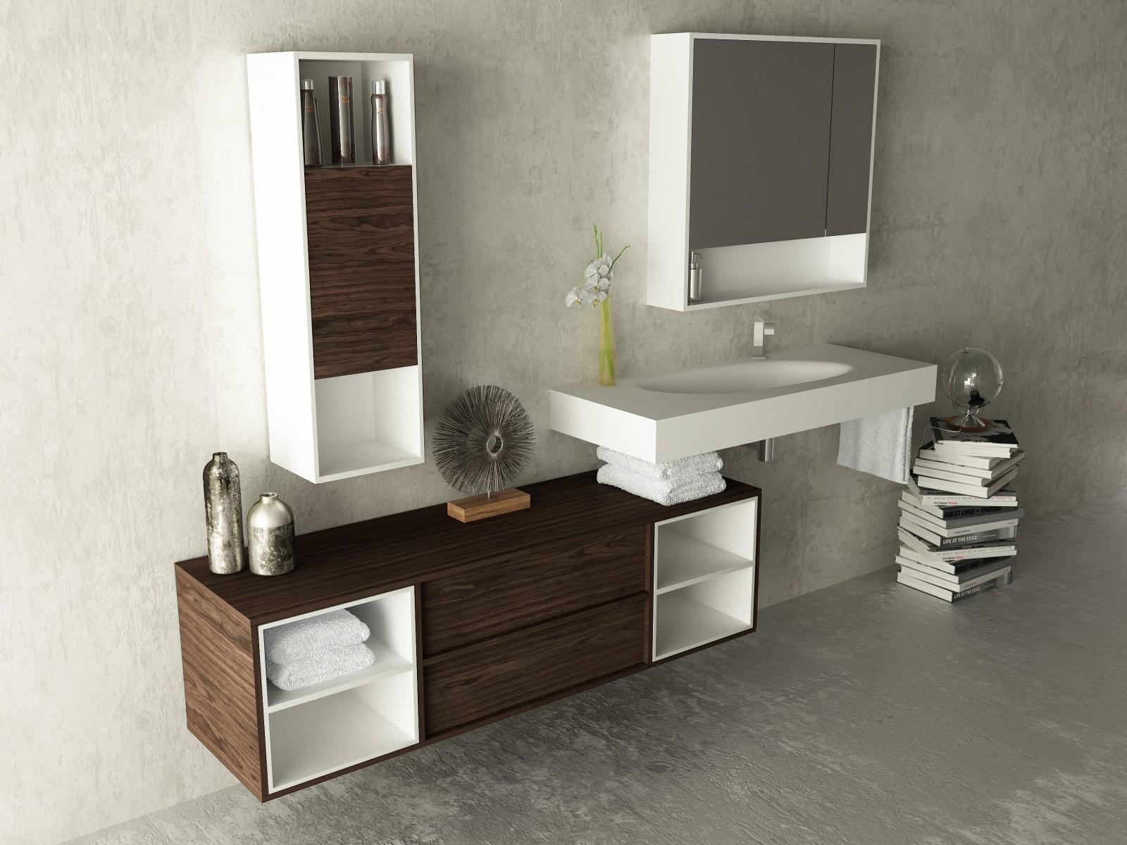 sun bajo 140 lavabo corian sun meubles salle bain ikebe usine de meubles pour la. Black Bedroom Furniture Sets. Home Design Ideas