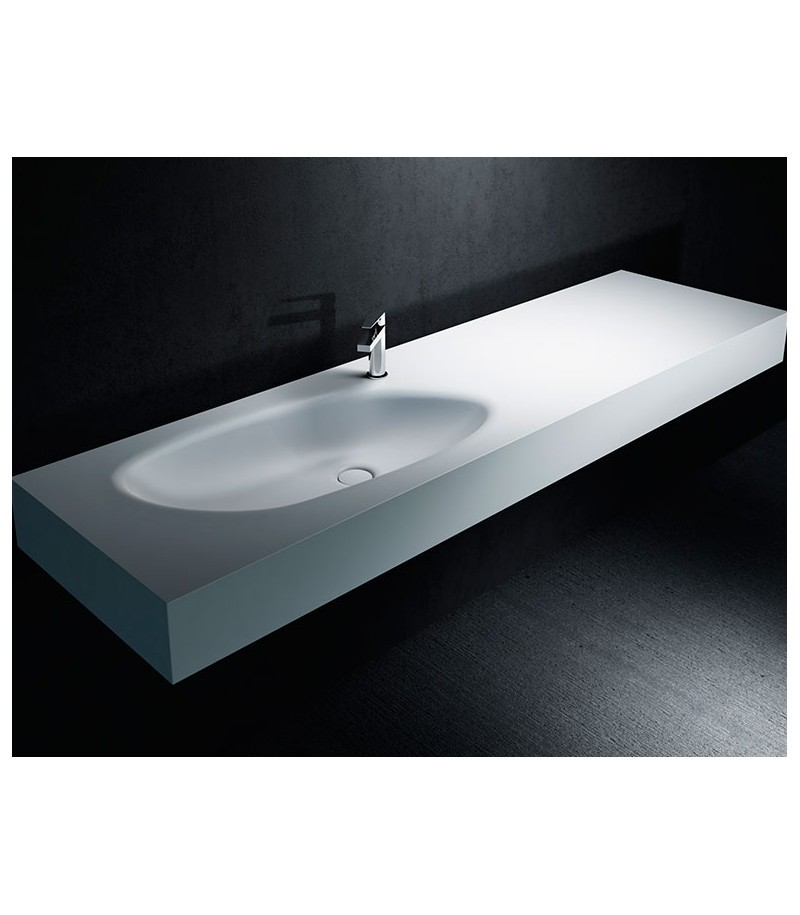 Lavabo sun plus corian plan vasque sur mesure for Lavabo plus meuble