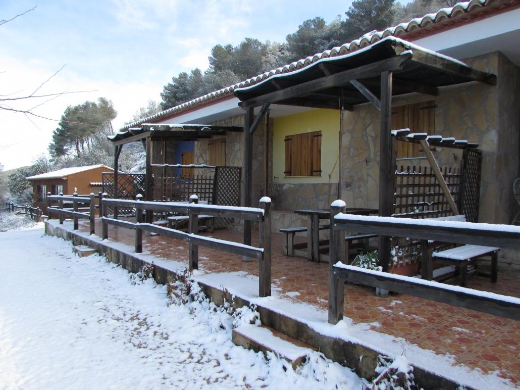Las casas toda nevadas