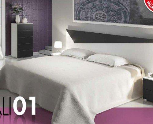 Dormitorio CALI01Medellin Blanco-Grafito