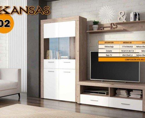 Composición KANSAS 02 Nelson-Blanco Brillo