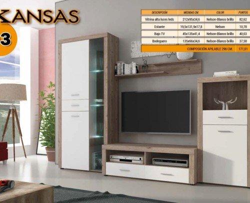 Composición KANSAS 03 Nelson-Blanco Brillo