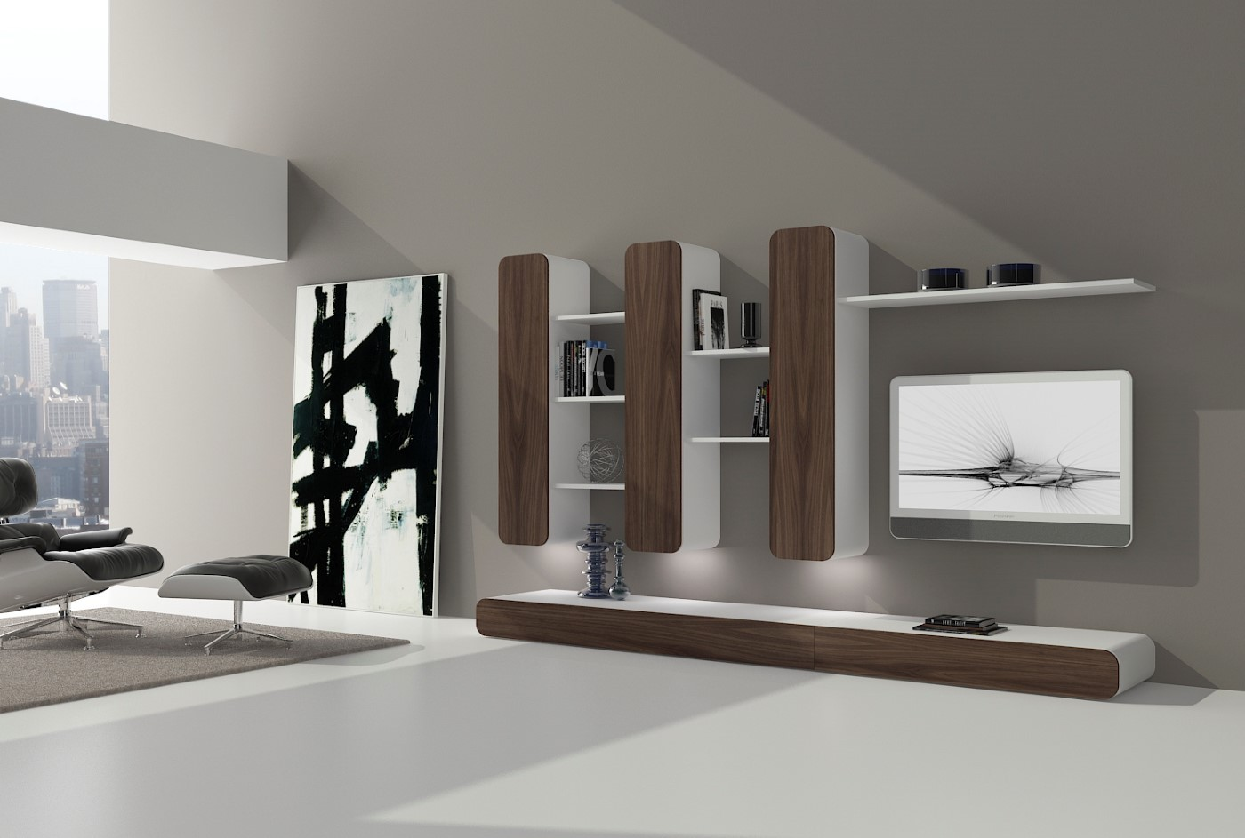 Salones modernos de calidad online en valencia for Librerias para salones modernos