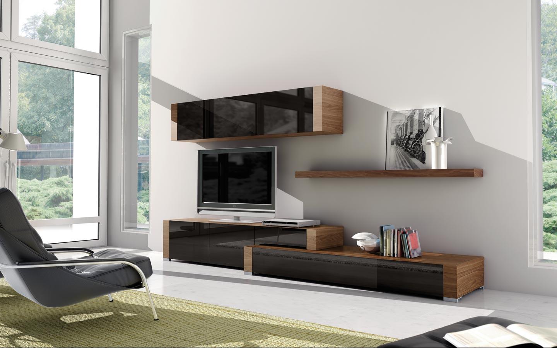Salones modernos de calidad online en valencia - Muebles hall modernos ...
