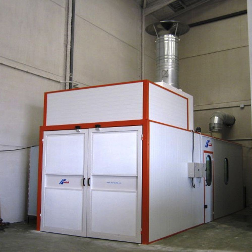 Cabina de pintura presurizada con recinto nico cabinas de pintura - Cabina de pintura coches ...