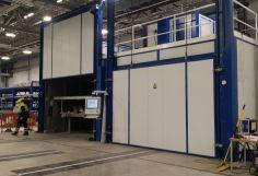 Horno Eléctrico de 57,75M3 para el Secado de Piezas de Fibra de Carbono.