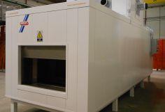 Horno a Gas de 4M3 en Contínuo para el secado de Botellas de Aluminio.