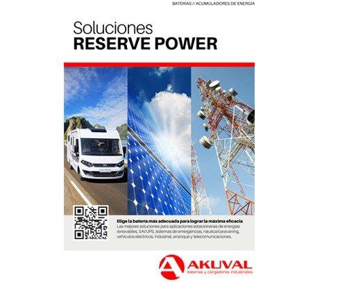 Catálogo aplicaciones estacionario - Reserve Power