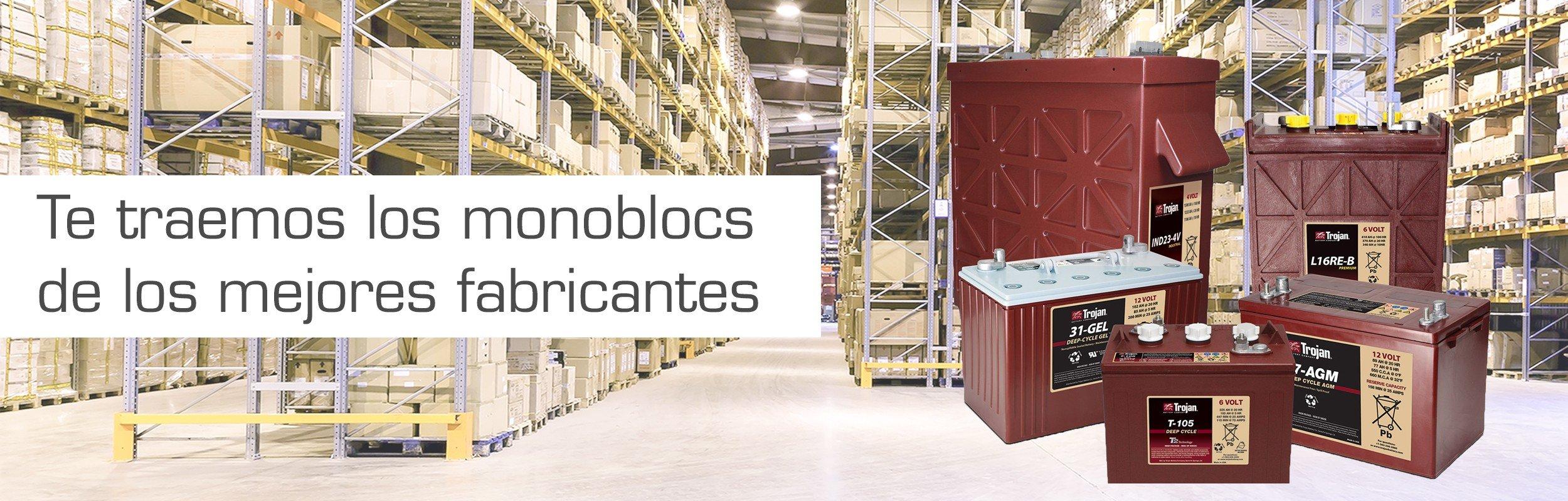 Monoblocs de tracción :: Baterías tracción, baterías carretillas, baterías transpaletas