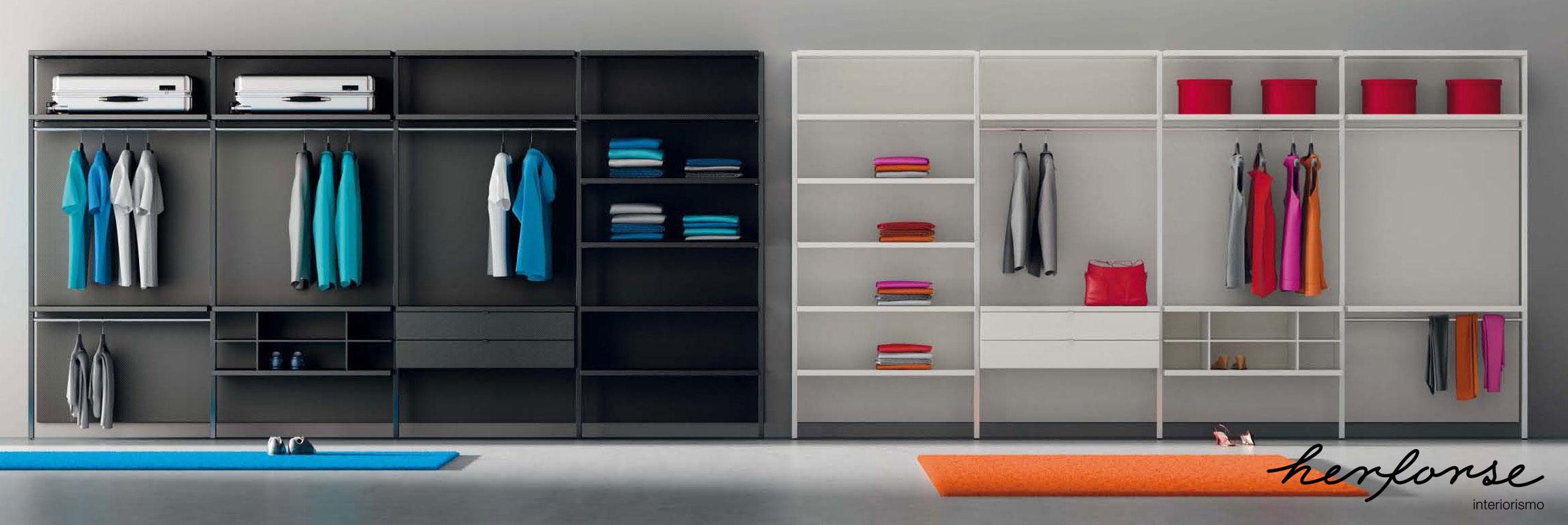 Sin puertas armarios y vestidores herforseinteriorismo for Disenos de roperos para dormitorios