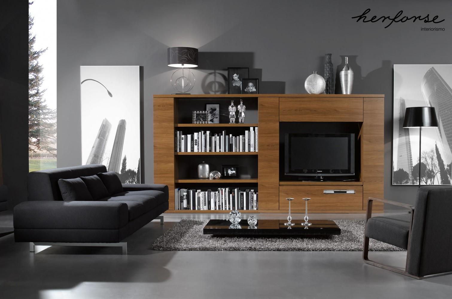 Contemporaneos modernos salones herforseinteriorismo for Sofas para salones estrechos