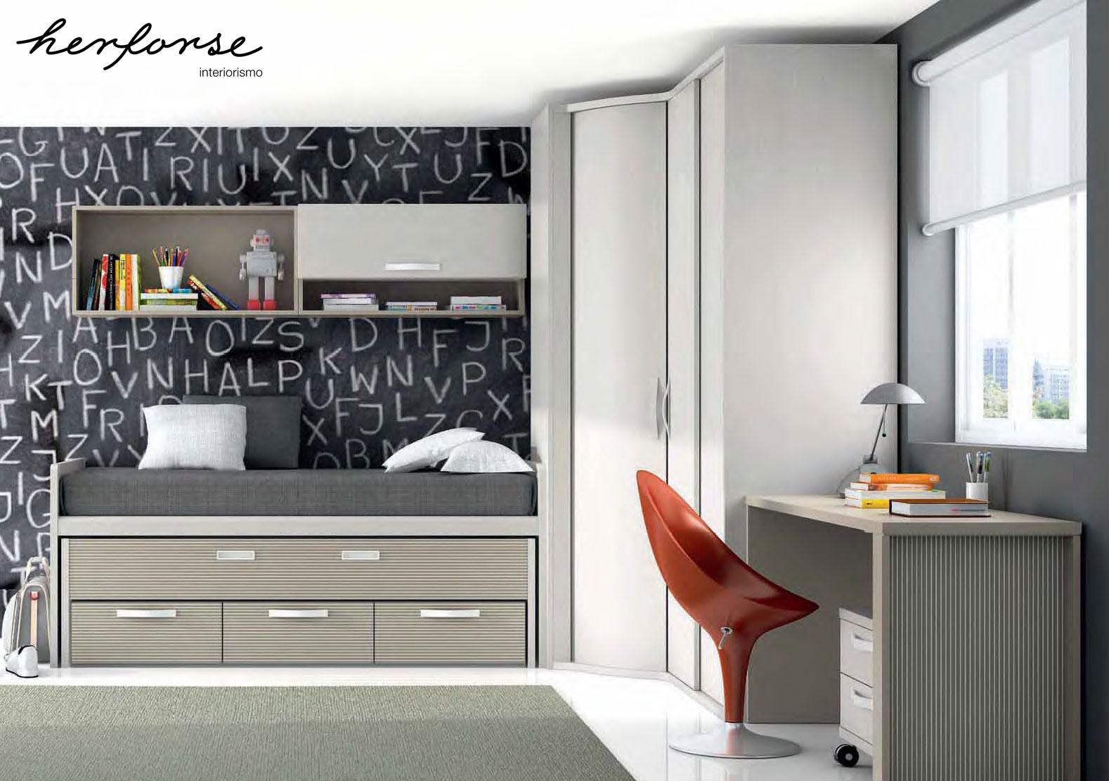 Compactos dobles camas juveniles herforseinteriorismo - Dormitorios dobles juveniles ...