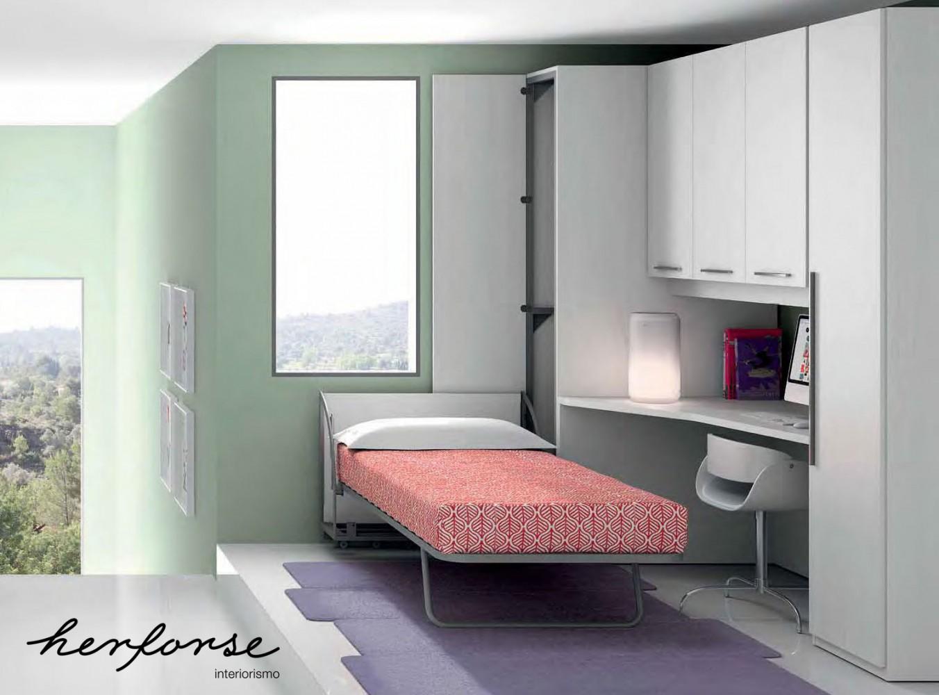 Camas abatibles juveniles herforseinteriorismo - Habitaciones camas abatibles ...