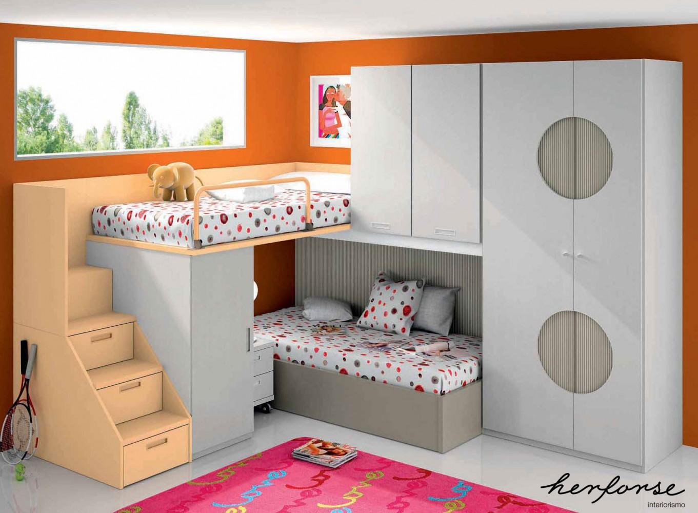 Literas y trenes juveniles herforseinteriorismo - Papel para habitaciones juveniles ...