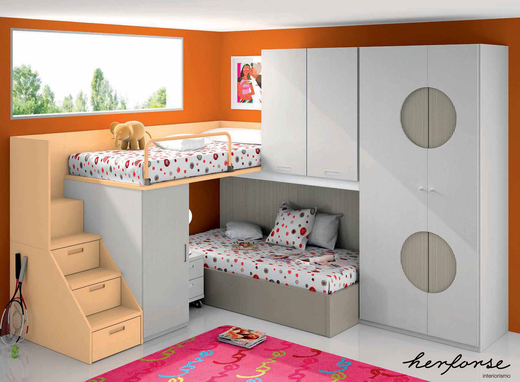 Literas y trenes juveniles herforseinteriorismo Dormitorio juvenil en l