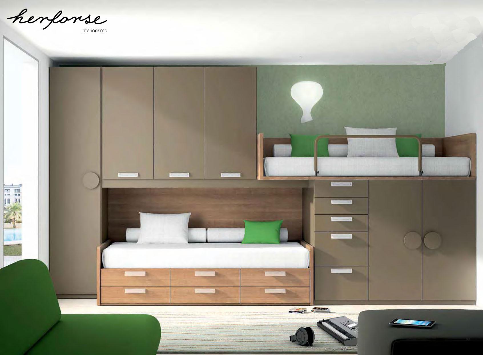 Literas y trenes juveniles herforseinteriorismo - Dormitorios dobles juveniles ...