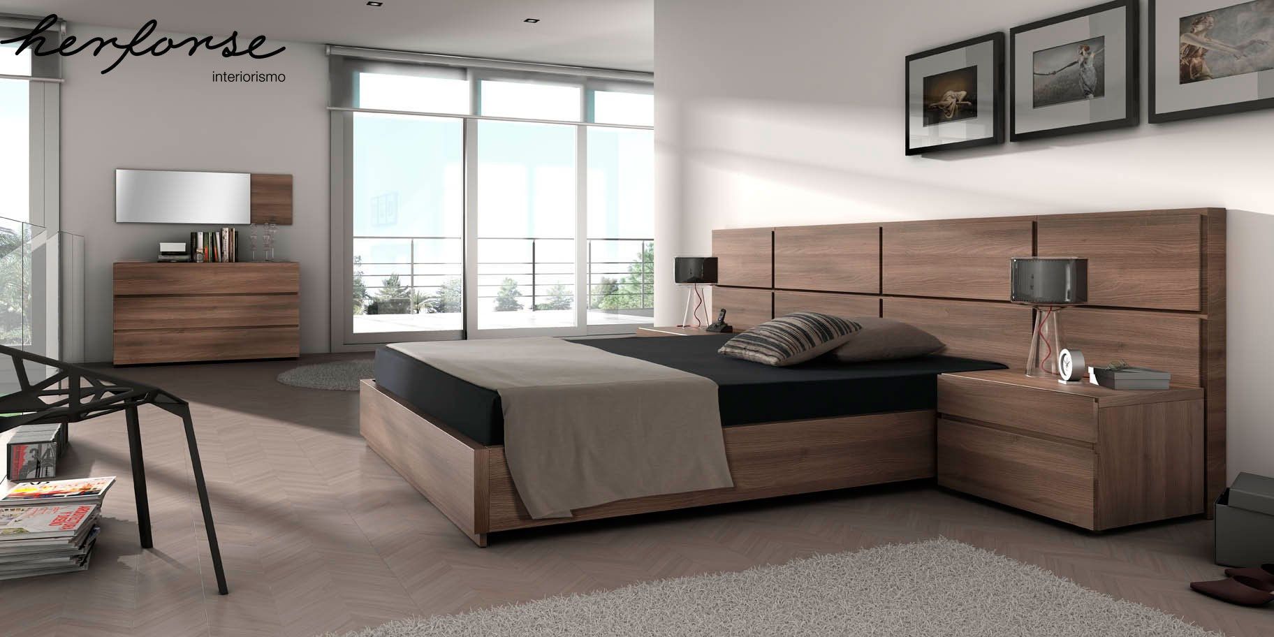 Fotos de dormitorios modernos dormitorios modernos madera for Dormitorios baratos online