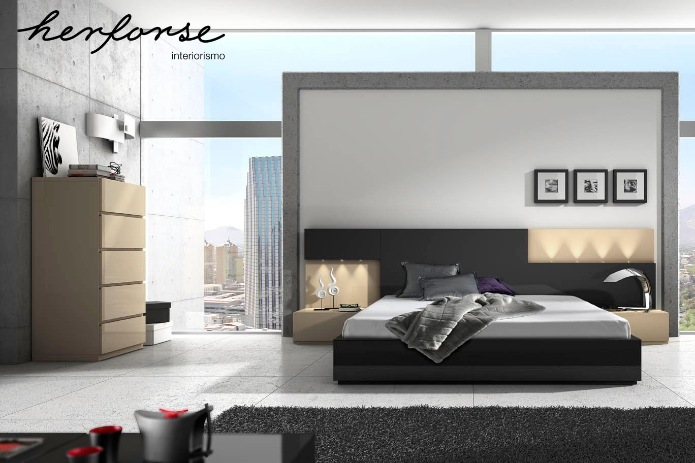 Modernos vanguardia dormitorios herforseinteriorismo - Ambientes de dormitorios ...