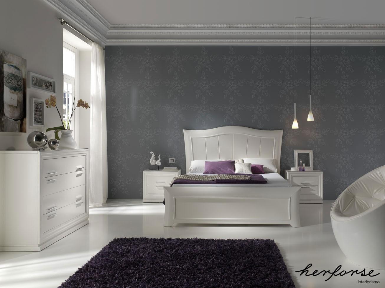 Alta decoracion clasico dormitorios herforseinteriorismo - Papeles pintados dormitorio ...