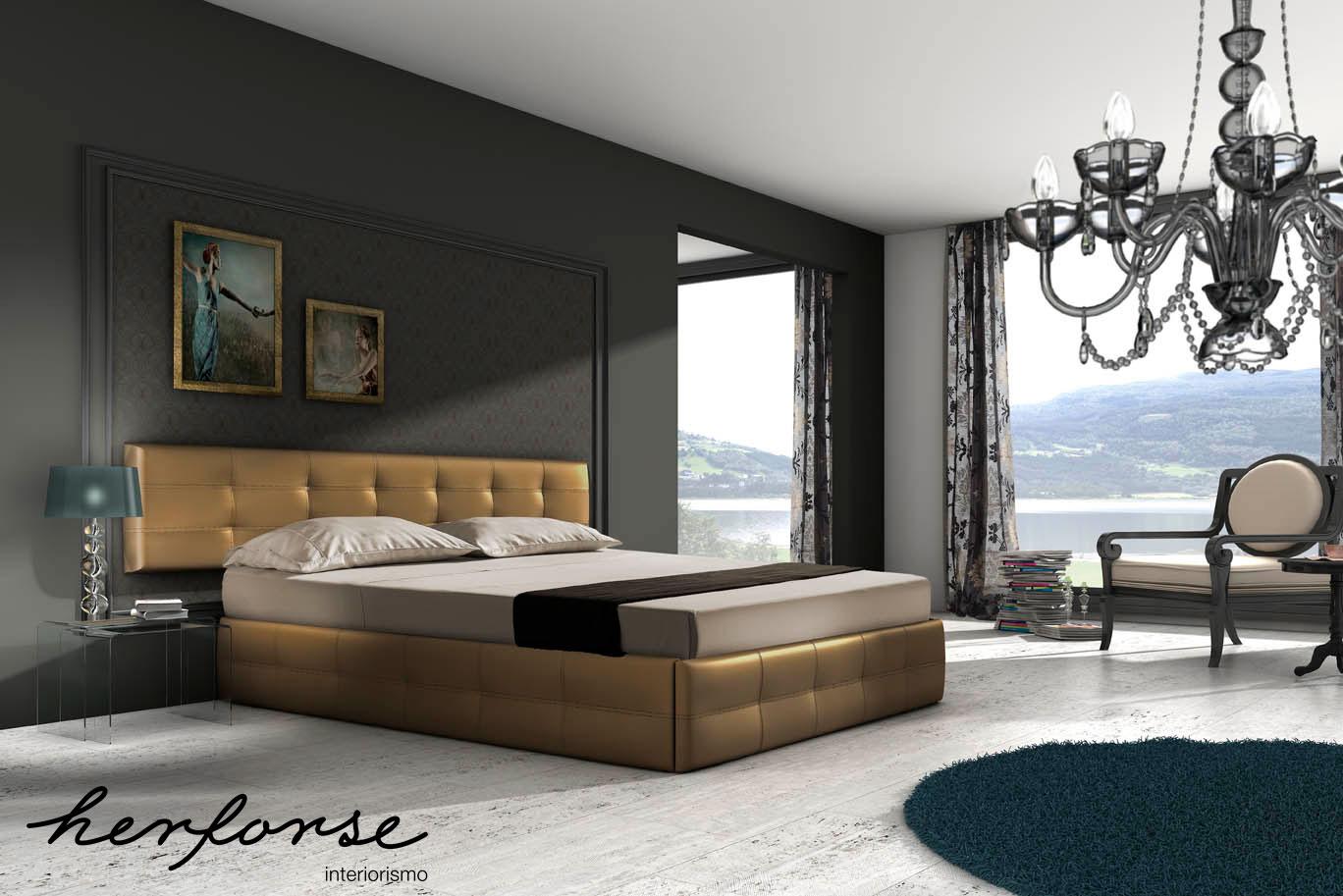 Cabezales tapizados dormitorios herforseinteriorismo - Baules tapizados dormitorio ...