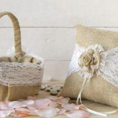 nuevo cojin y cesta campestre
